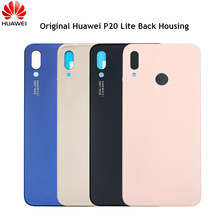 Original Huawei P20 Lite Glass Back Housing Case Battery Cover For Huawei Nova 3e Rear Door Replacement Case Glossy Repair Parts(China)
