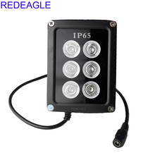 REDEAGLE Infrared Fill Light Night Vision illuminator 90 Degree 6 IR LED Lamp Metal Waterproof Housing For CCTV Security Camera