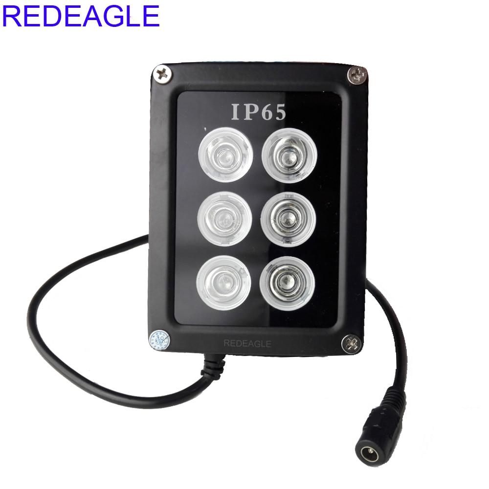Ir Illuminator 850nm,12 Leds 90 Degree Wide Angle Infrared Illuminator Waterproof for Night Vision IP Camera,CCTV Security Cameras(6W//12V)