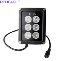 REDEAGLE Infrared Fill Light Night Vision illuminator 90 Degree 6 IR LED Lamp Metal Waterproof Housing For CCTV Security Camera