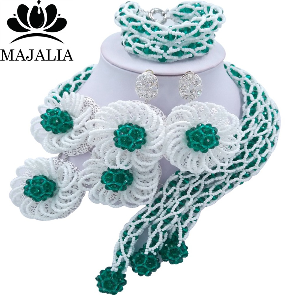 Fashion african wedding beads Army Green nigerian wedding african beads jewelry set Crystal Free shipping Majalia-324Fashion african wedding beads Army Green nigerian wedding african beads jewelry set Crystal Free shipping Majalia-324