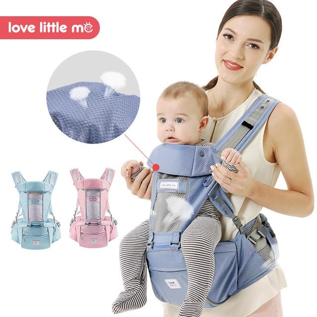 LLM Breathable Ergonomic Baby Carrier Kangaroo Baby Holder Hip Seat Carrier Heaps Newborn Tabouret Shoulder Baby Wrap Sling