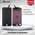 50 pçs/lote um grau oem lcd para o iphone 6 lcd digitador Tela de toque De Vidro Assembleia com a Imprensa Fria Quadro DHL Frete Grátis