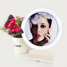 Standing Hanging Led Makeup Mirror With Light Shower Bath Mirror Desktop Table Mirrors For Shaving Bedroom Cosmetics Make Up