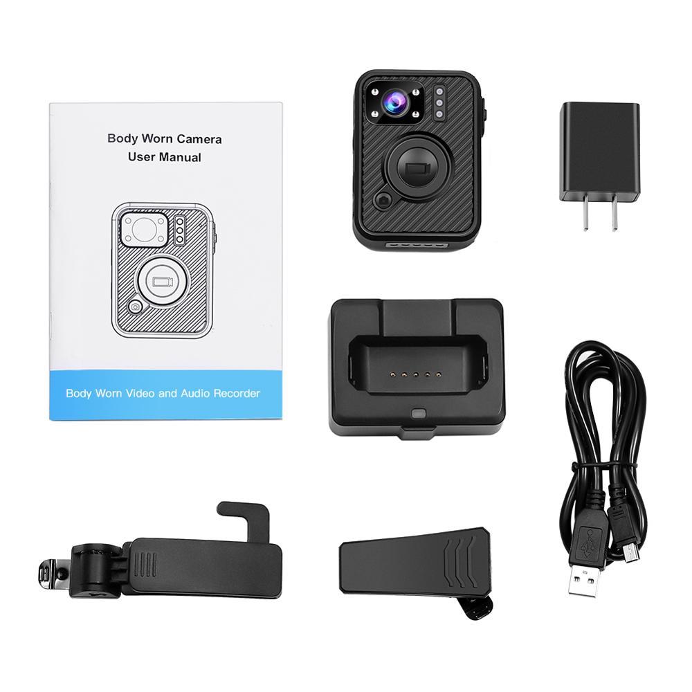 BOBLOV Wifi полицейская камера 64GB F1 Body Kamera 1440P изношенная камера s для правоприменения 10H запись gps ночное видение DVR рекордер - 6