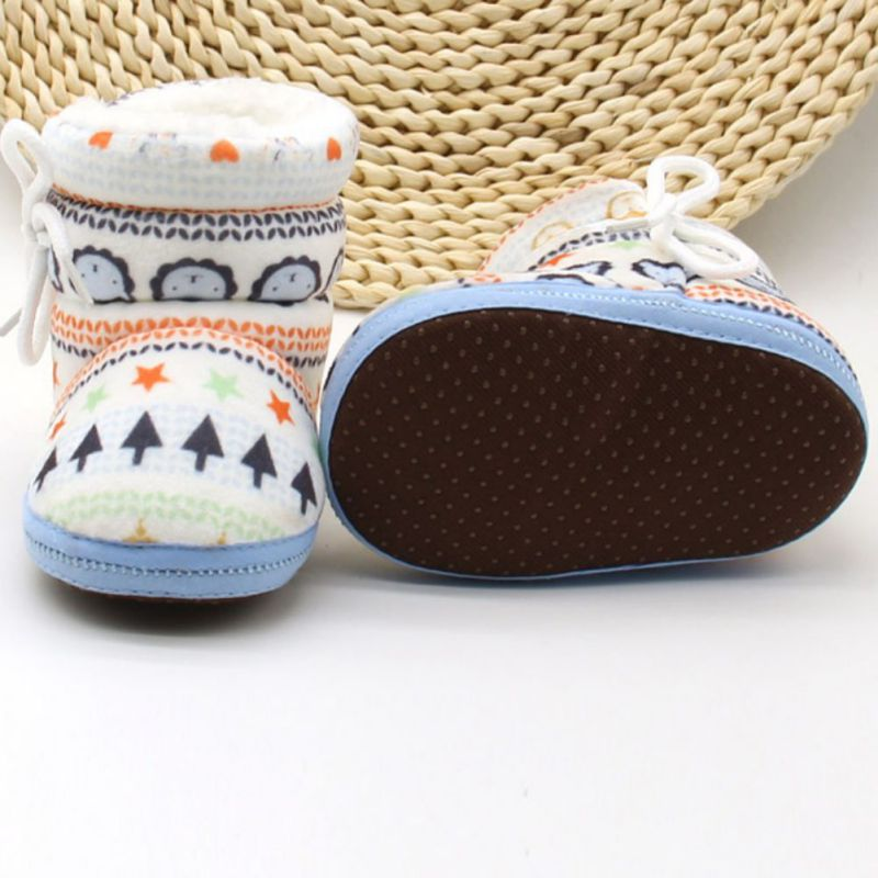 Infant Toddler Newborn Kids Baby Shoes Algodón Acolchado Raquetas de - Zapatos de bebé - foto 4