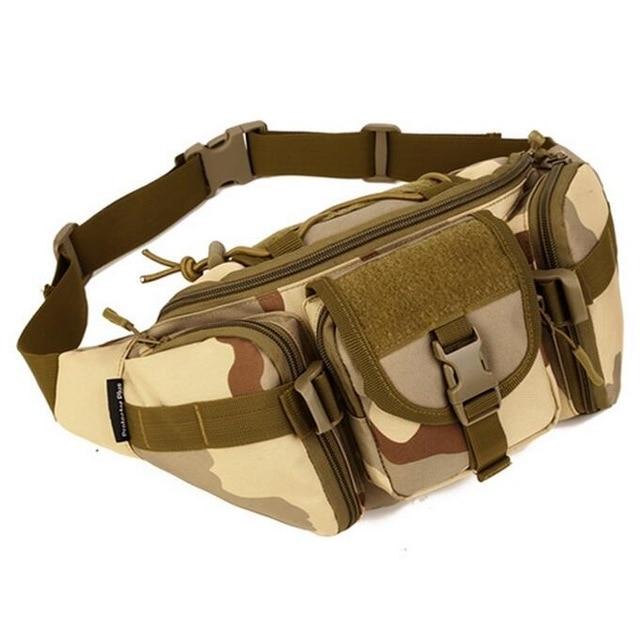 Outdoor sports big waist bag army fan pack tactics more pocket pockets riding road Ya Sling bow bag chest bag satchel