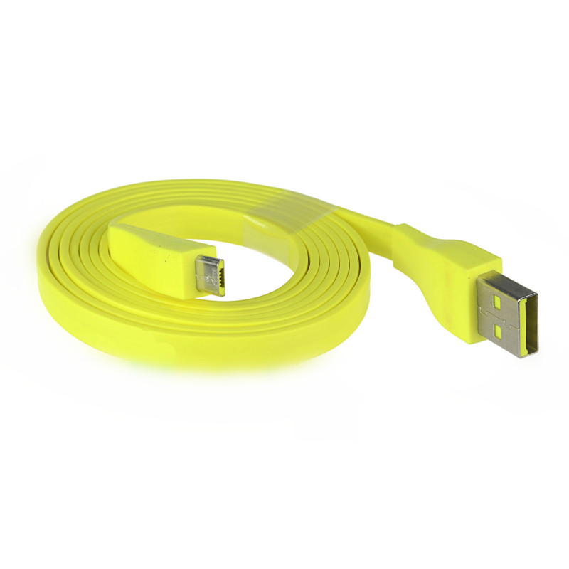 Original Micro USB Cable 22AWG 1.2M 4ft Max 2.5A Yellow for Logitech UE BOOM Bluetooth Speaker