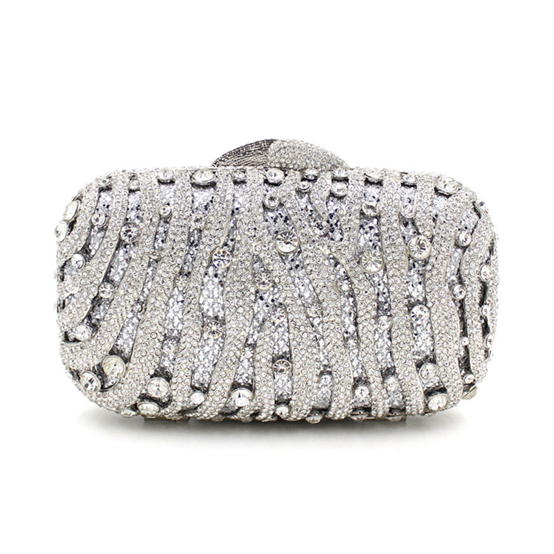 Woman silver crystal evening bags fashion glitter handmade party purse ladies small gift handbag female luxury clutch hand bag 2015 new women crystal u diamond clasp clutch bags glitter silver evening bags gold clutch party purse woman handbag 1820