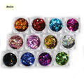 BlueZoo 12 box 3D Shinny Plastic Triangle Glitter Slices Rhinestone Studs For On Nail Stickers Nail Art Decoration DIY Manicure