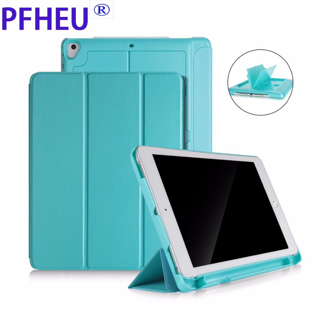 Case with Pencil Holder For iPad 9.7 inch ( 2018 New ) A1893 A1954,For iPad Air / Air 2 PU Leather Smart Cover Auto Sleep Wake for new ipad 9 7 inch 2018 a1954 a1893 pu leather sleeve slim cover pouch bag sleeve bag case for ipad air 1 2 9 7 2017 tablet