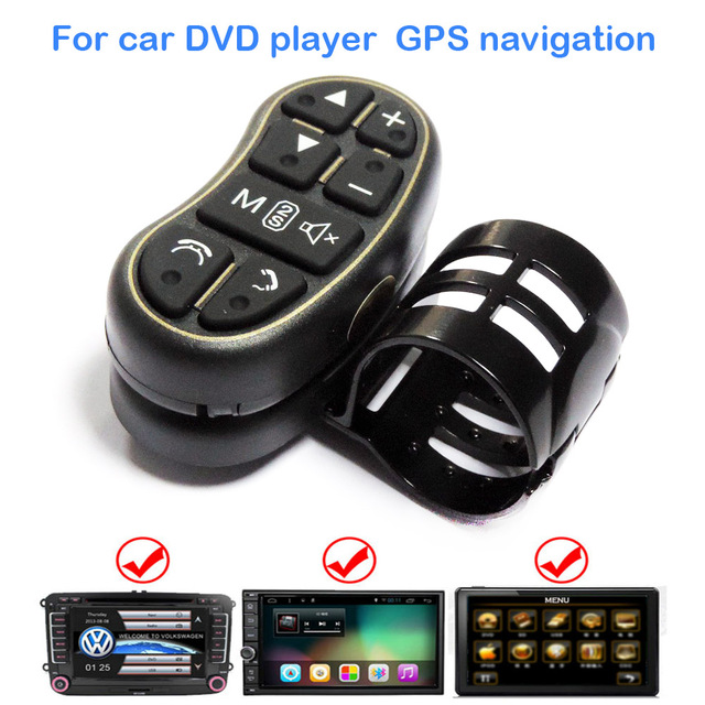 Car Steering Wheel Media Button Remote Control for Auto Stereo DVD GPS / 2 Din Study Head Unit Wireless Controller 7 Keys