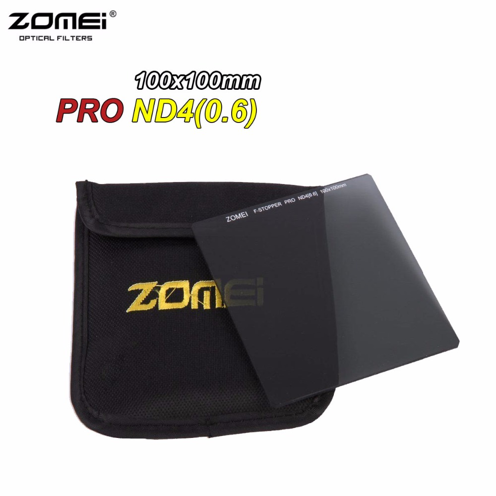 Zomei 100mm ND4 Square Filter Pro HD Optical Glass ND0.6 100x100mm Neutral Density ND Filter For Cokin Z Lee Hitech 100mm Holder zomei pro 100mm grad soft nd2 nd4 nd8 square filter optical glass graduated neutral density gray nd filter for cokin z 100x150mm