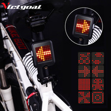 VICTGOAL Flashlight for Bicycle USB Rechargeable Bike Light LED Cycling MTB Rear Backlight Taillight Accessories