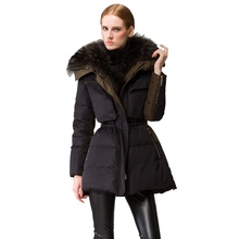 2017 Winter new arrival women's fashion down coat luxury big hair collar tooling down jacket 80688