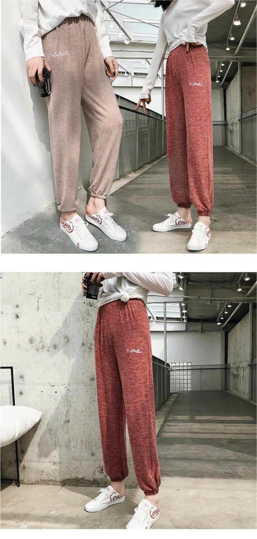 Mianziduo 2019 New Fashion Women's Sweatpants High Elasticity Free Shipping Good Quality Leggings Cotton Woman Pants Streetwear