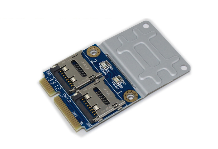 2 SSD HDD for Laptop Dual Micro SD SDHC SDXC TF to Mini PCIe Memory Card reader mPCIe to 2 mini-sdcards mini pci-e adapter