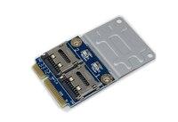 2 ssd hdd für laptop dual micro sd sdhc sdxc tf Mini PCIe Speicherkartenleser mPCIe 2 mini-sdcards mini pci-e adapter