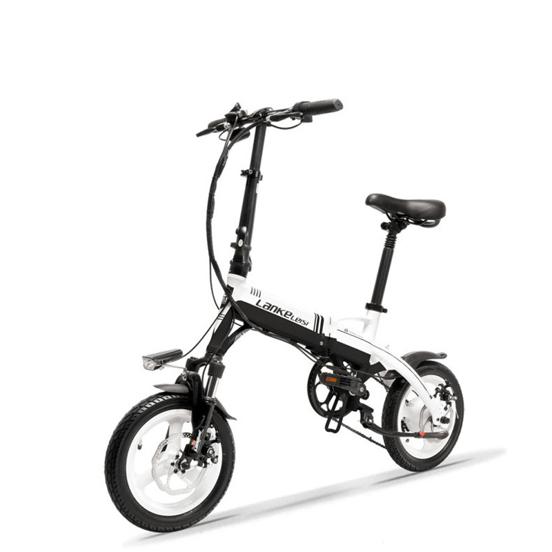 A6 Mini Folding Electric Bicycle, 350 W, 36 V /8.7a, 14 Inch E Bike, Disc, Removable Battery, Magnesium Alloy Velg