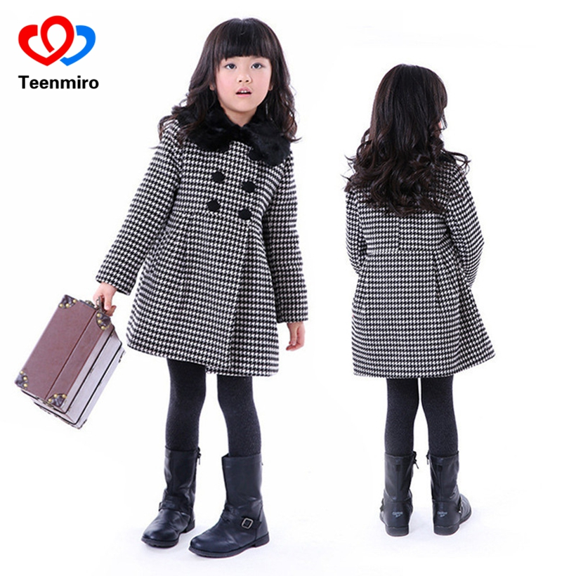2018 Children's Woolen Clothing Long Jacket Coat Winter Thicken Wool Outwear Jackets For Girls Kids Clothes Outwear Coats Parka saf thicken warm winter coat hood parka overcoat long jacket outwear