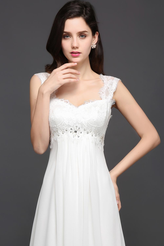 Chiffon Beading Boho Beach Wedding Dress 1