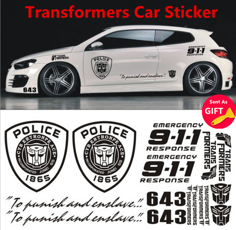 Car Styling Transformers Emblem Decal Car Sticker Car ...