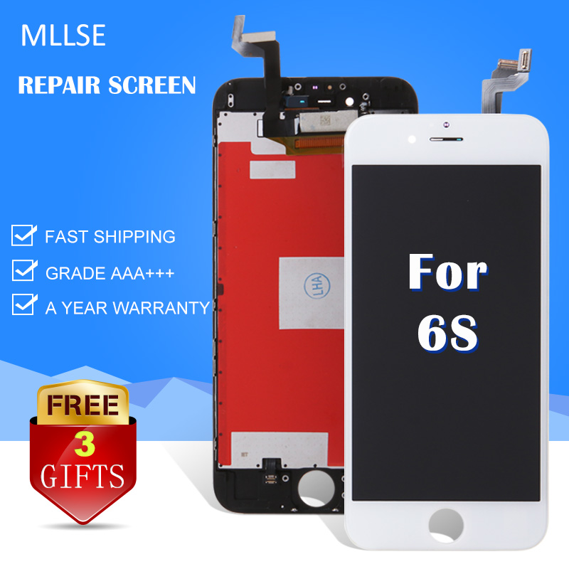 HOT Sale MLLSE For iPhone 6S LCD Screen Display with Touch Digitizer Assembly 4.7 inch Pantalla Replace Black White AAA Quality