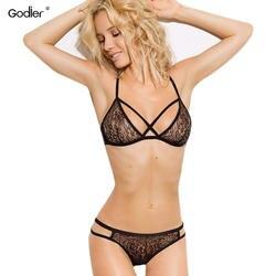 Godier женский сексуальный бюстгальтер комплект нижнего белья кружевной бюстгальтер плюс размер бюстгальтер комплект штанов вышивка жилет