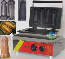 free shipping hot sale penis shaped lolly waffle hot dog machine lolly waffle grill