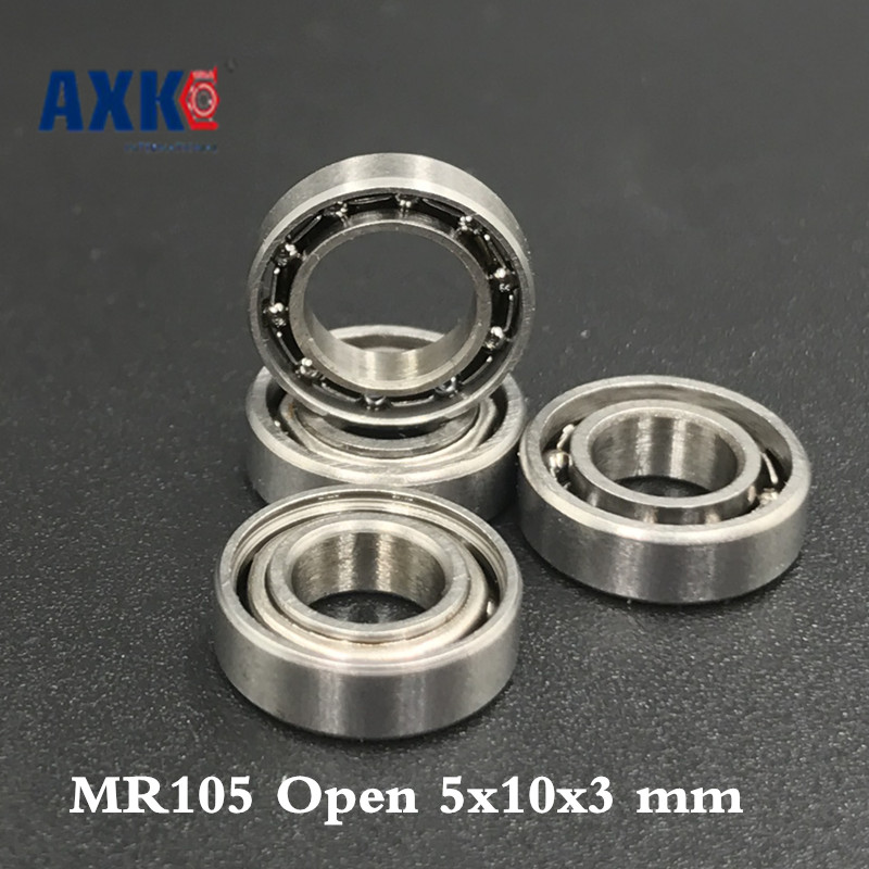 Metal Open Ball Bearing High Precision Bearing MR105 5x10x3 mm 10pcs