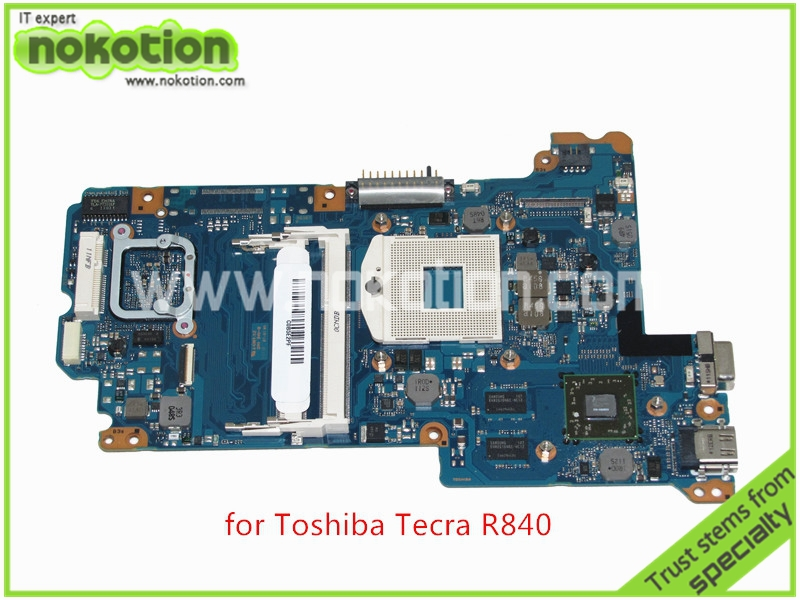 NOKOTION FAL4SY1 A3012 A For Toshiba Tecra R840 R845 Intel HM65 Motherboard ATI Graphics DDR3 nokotion sps v000198120 for toshiba satellite a500 a505 motherboard intel gm45 ddr2 6050a2323101 mb a01