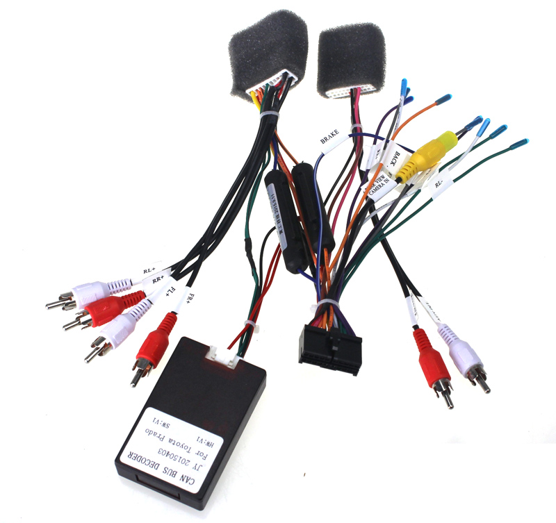 Joying JBL AMP Amplifier Car radio stereo harness wire adapter for Toyota universal aliexpress com buy joying jbl amp amplifier car radio stereo jbl wiring harness at n-0.co