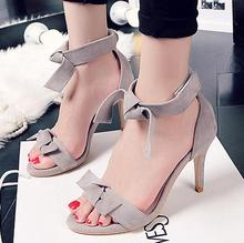 In Season Customize Small Size 29 30 31 32 33 42 Women Summer Pumps Girl Genuine Leather Sandals Student New Trend Bowtie Shoes