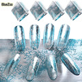 BlueZoo 1 Pack Nail Art Stickers Blue Silver Scenery Transfer Foil Nail Sticker Full Cover Universe Decals Nails Tools For Nail
