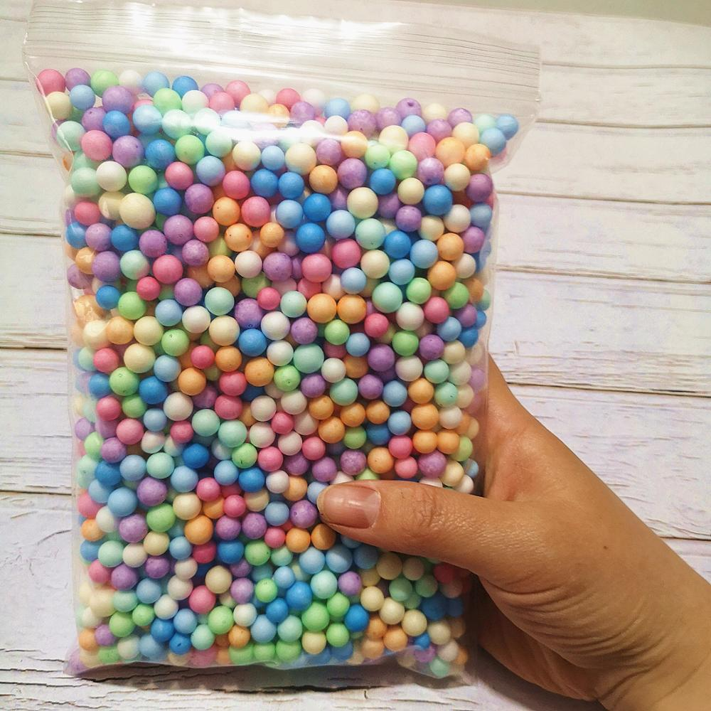 13g Color Snow Mud Particles Accessories Tiny Foam Beads Slime Balls Supplies