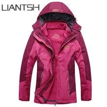 3 in 1 thermal keep warm windbreaker men black mountain outdoor jackets fleece inner windproof ski