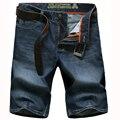 2017 Лето хлопок короткие джинсы мужские джинсовые шорты тонкий срез новой случайные шорты Мульти-карман шорты