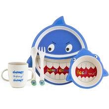 Високоякісні дитячі страви 5штук / комплект Посуд з мультфільмів для тварин та плетені подарунки для дівчаток для хлопчиків Дитяча посудна чаша