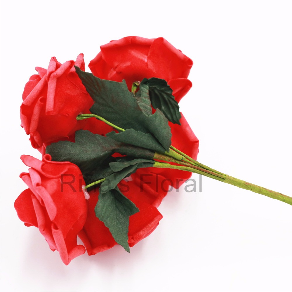 Wedding Flowers Red 72 Fake Roses Flowers For Wedding Decoration