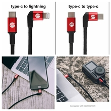 PGYTECH 65CM Type-C To / Lighting IOS Data Cable Line Connect Wire for DJI OSMO POCKET/OSMO Action Accessories