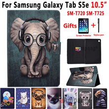цена на Case for Samsung Galaxy Tab S5e 10.5 2019 SM-T720 SM-T725 T720 T725 Funda Animal Leather Shockproof Cover for Samsung Tab S5e
