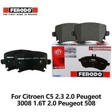 4pieces/set Ferodo Front Car Brake Pads For Citroen C5 2.3 2.0 Peugeot 3008 1.6T 2.0 Peugeot 508 2.3 2.0 FDB4160-D auto part