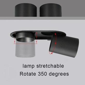 Встраиваемый прожектор двуглавый 2X12 W светодиодный Cob-прожектор high CRI RA> 93 деловое освещение для отелей освещение в помещении