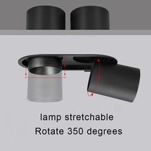 Embedded spotlight double-headed 2X12W LED Cob-Cree spotlight high CRI RA>93 business hotel engineering indoor lighting