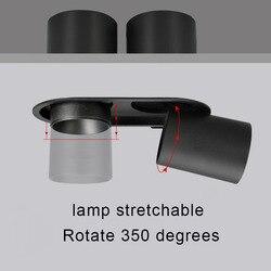 Incorporato il riflettore doppio-headed 2X12 W LED Cob-Cree riflettore di alto CRI RA> 93 di affari hotel di ingegneria di illuminazione interna
