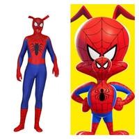 Anime Game Ham Pig Peter Parker Spider Man Cosplay Costumes Spider Man Women Men Spandex Zentai Jumpsuits Bodysuits Suit 2019