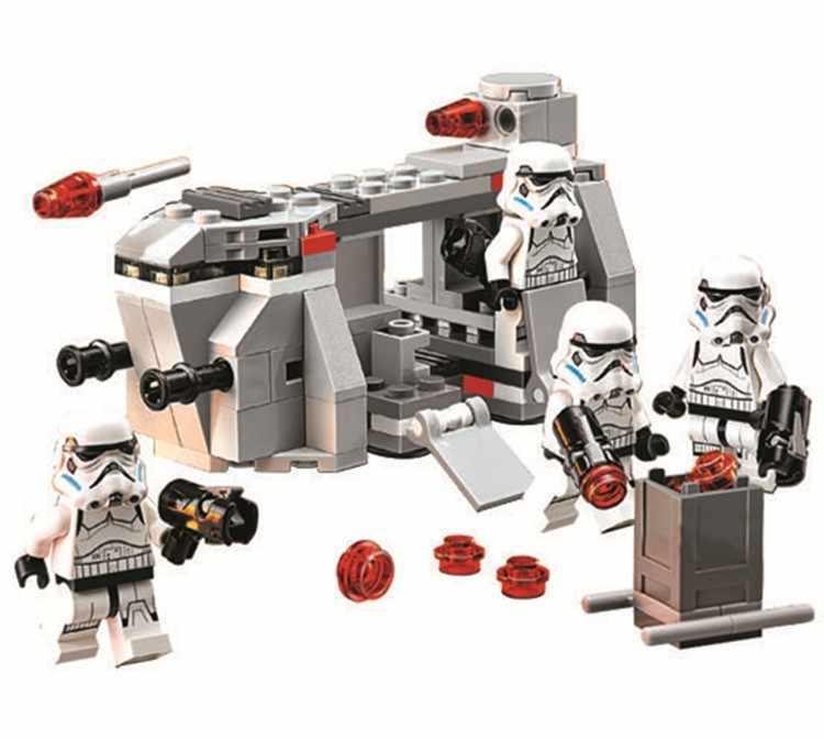 POGO 10365 aeronaves de transporte Do Exército Real tropas Clone building blocks brinquedos crianças presente Compatível Com