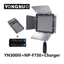 Yongnuo YN-300 YN300 III III 3200 k-5500 K CRI95 Cámara de Vídeo LED de Luz con 4600 mAh NP-F750 batería con el Cargador de conjunto