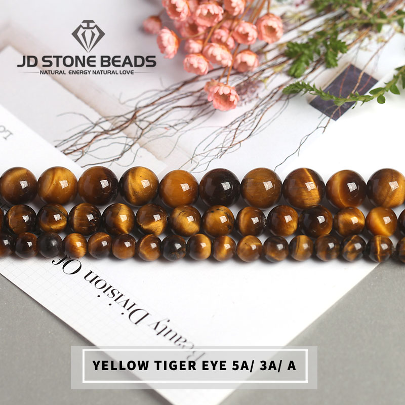 Hot Sale Gemstone Beads 5A 3A A+Natural Yellow Tiger Eye Beads Personalized Fashion Hand-made Accessory For Men Jewelry Making