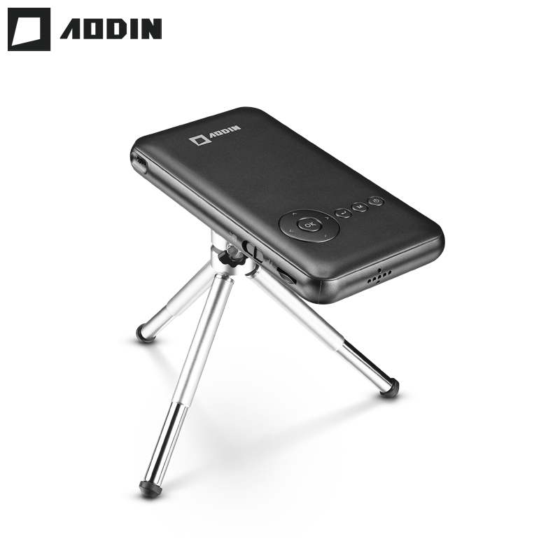 AODIN M6S 32G Smart DLP Mini Projector WIFI LED Portable Projector HD Home Theater Android Pocket Projector HDMI IN Smartphone цены